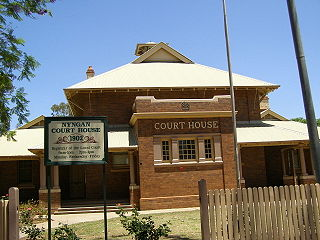 Nyngan Town in New South Wales, Australia