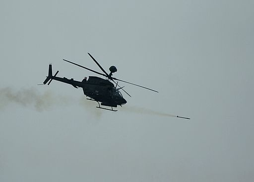 OH-58 firing Hellfire missile during Operation Brown