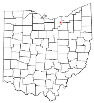 Grafton, Ohio - Image: OH Map doton Grafton