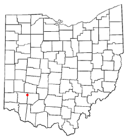 Location of Harveysburg, Ohio