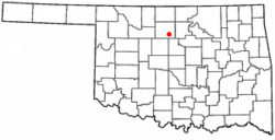 Location of Douglas, Oklahoma