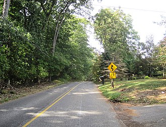 Oakland Mills, New Jersey - Area along westbound Mill Road