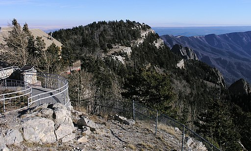 Observation area on Sandia Peak