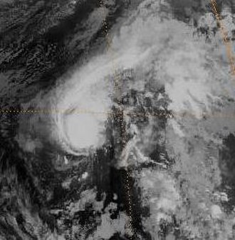 1982 Pacific typhoon season - Image: Odessa 1982040215GMS2IR