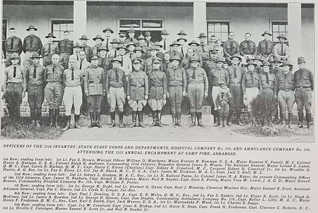 Officers of the 153rd Infantry, 1925