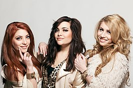 O'G3NE, van links naar rechts: Amy, Shelley en Lisa