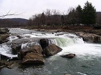 Ohiopyle, Pennsylvania - Ohiopyle Falls - Opposite View