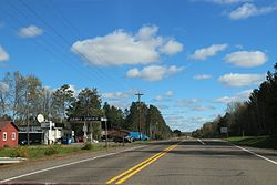 The main intersection for Ojibwa on WIS27/WIS70