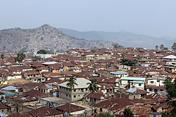 A landscape view of Okene town, Kogi State Nigeria