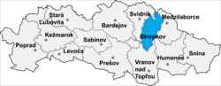 Location of Stropkovas apriņķis