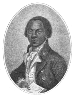 Olaudah Equiano, His autobiography, published in 1789, helped in the creation of the Slave Trade Act 1807 which ended the African slave trade for Britain and its colonies. Olaudah Equiano, frontpiece from The Interesting Narrative of the Life of Olaudah Equiano.png