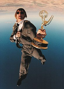 Description de l'image  Olav Zipser FreeFlying with his Sports Emmy Award.jpg.