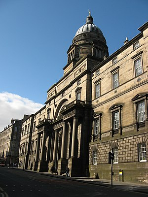 Old College, University of Edinburgh - The east facade of the Old College as it currently stands.