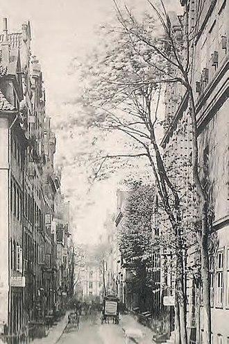 Johann Cesar VI. Godeffroy - Old Wandrahm Strasse in 1880