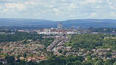 Oldham town centre closeup from Hartshead Pike.jpg