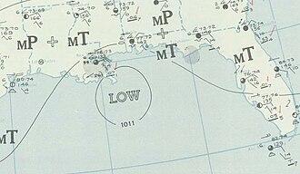 1941 Atlantic hurricane season - Image: One 1941 09 12 weather map
