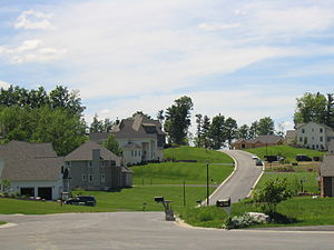 Onondaga, New York - An upscale neighborhood in the hills of Onondaga just outside Syracuse