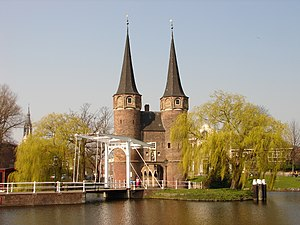 Eastern Gate (Delft) - Oostpoort with its drawbridge