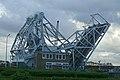 Opengaande Visartbrug aan de Visartsluis, Kustlaan, Zeebrugge (Brugge).JPG