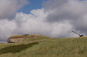 Atlantic Wall open-air museum - Preserved Observation Post at the Museum.