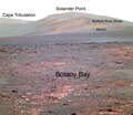 Opportunity's view of 'Solander Point' - False Color Annotated.tif