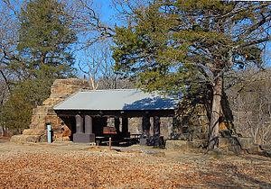 Osage Hills State Park - Image: Osage Hills State Park Picnic Shelter
