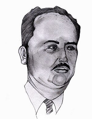 Oswaldo López Arellano - Sketch of Oswaldo López Arellano