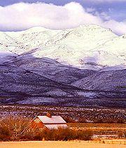 Línea divisoria experimental en Reynolds Creek, Montañas Owyhee, a unos 70 km al suroeste de Boise, Idaho.