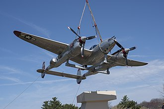 Thomas McGuire - P-38 Lightning Pudgy static display at Joint Base McGuire–Dix–Lakehurst