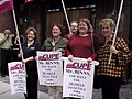 PEI CUPE protest outside Toronto Conservative fundraiser (2003).jpg