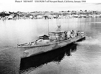 USS PGM-7 - Image: PGM 7 Gunboat