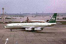 PIA Boeing 720 at LHR 1964.jpg