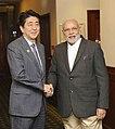 PM Modi and PM Abe at the 2014 G-20 summit.jpg