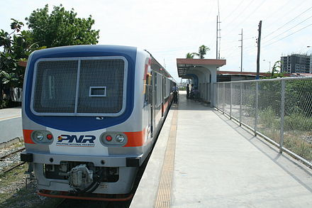PNR Metro Commuter Line Hyundai Rotem DMU at Sucat Station. - Philippines