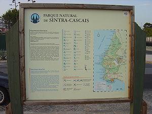 Sintra-Cascais Natural Park - Image: PNSC sign