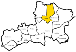 Location of Piasek within Gmina Pszczyna