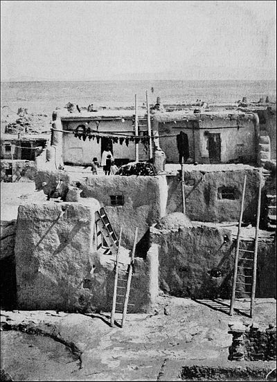 PSM V41 D825 Terrace houses of the pueblo indians in new mexico.jpg