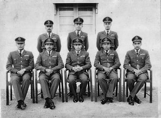 Matiur Rahman (military pilot) - Matiur as a Pilot Officer in 1963 with other newly commissioned officers (sitting in the front row, second from  right)