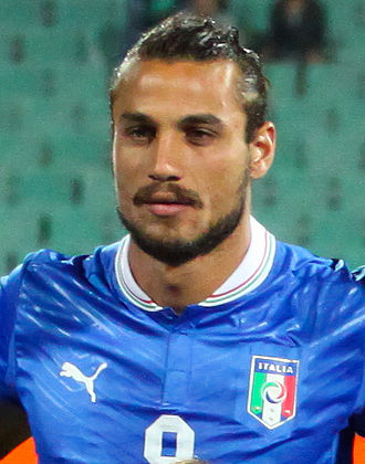Dani Osvaldo - Osvaldo with Italy prior to a 2014 FIFA World Cup qualification match against Bulgaria in September 2012
