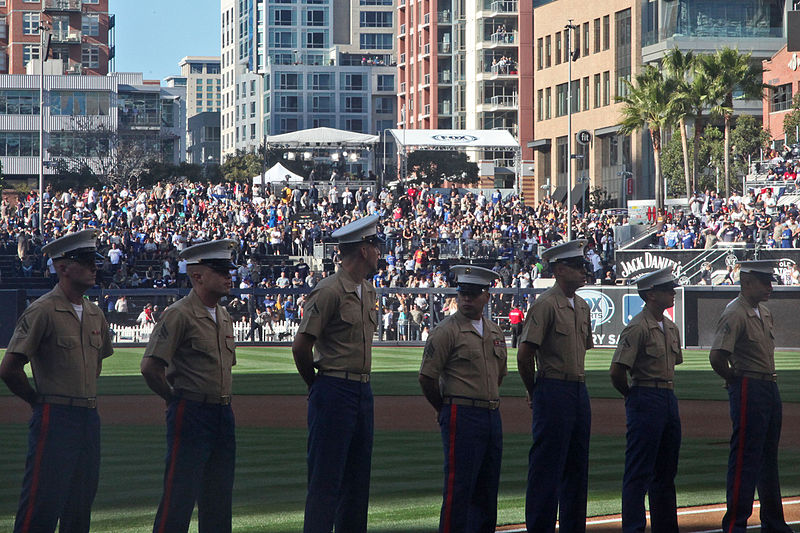 File:Padres salute troops on Opening Day 140330-M-MM729-537.jpg