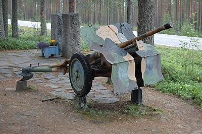Minne från svenska frivilligkåren efter slaget vi Salla