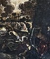 Paintings by Tintoretto in Scuola Grande di San Rocco - Sala superiore - The Baptism of Christ.jpg