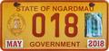 Palau license plate Ngardmau Gov 2018 b.png