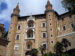 Ducal Palace, Urbino - The Palace's Façade.