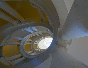 Palazzo Barberini - The famous helicoidal staircase by Borromini.