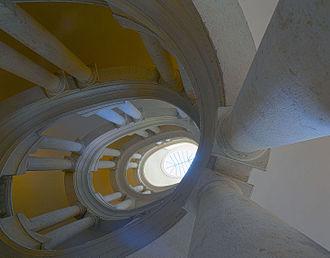 Palazzo Barberini - The famous helicoidal staircase by Borromini.