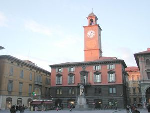 Reggio Emilia - Palazzo del Monte in Piazza del Duomo, with the Fountain of River Crostolo.