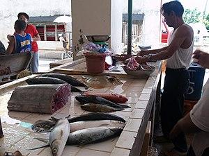 Dalaguete - Dalaguete Public Market – wet fish