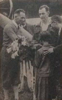 Pangborn and Herndon in Japan 1931