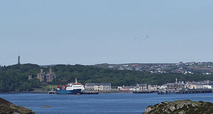 Stornoway - Panorama of Stornoway Harbour area from Arnish Point